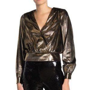 FRAME - Metallic Blouson Top - NWOT